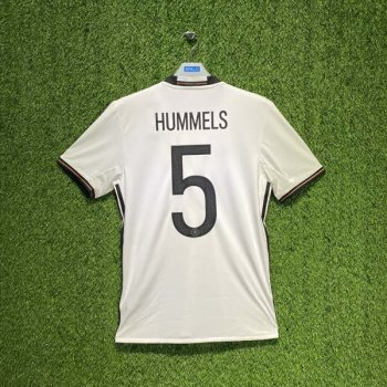 ADIDAS GERMANY 2016 (HOME) S/S JSY AI5014 w/ NAMESET (#5 HUMMELS)