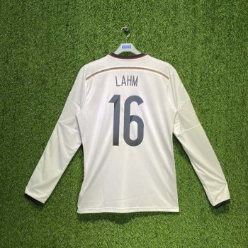 ADIDAS GERMANY 2014 (HOME) L/S SHIRT M60435 w/ NAMESET (#16 LAHM)