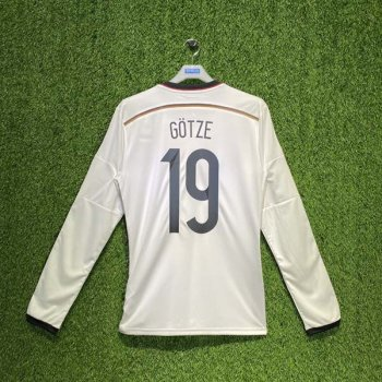 ADIDAS GERMANY 2014 (HOME) L/S SHIRT M60435 w/ NAMESET (#19 GOTZE)