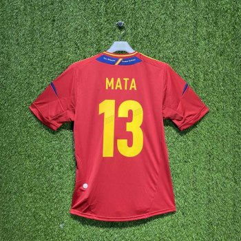 SPAIN 2012 (HOME) S/S JSY X10937 w/ NAMESET (#13 MATA)