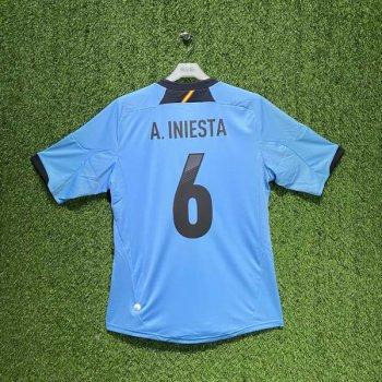 SPAIN 2012 (AWAY) S/S JSY X11346 w/ NAMESET (#6 A. INIESTA)