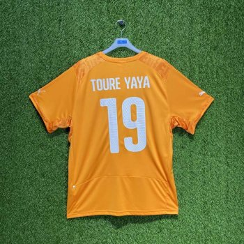 PUMA Ivory Coast 2014 (HOME) Shirt Replica 744586-01 w/ NAMESET (#19 YAYA TOURE )
