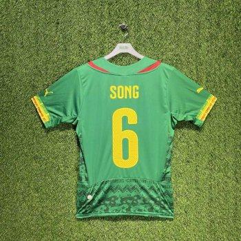 PUMA Cameroon 2014 (HOME) Shirt Replica 744553-01 w/ NAMESET (#6 SONG)