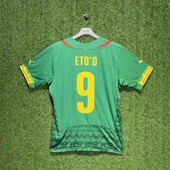 PUMA Cameroon 2014 (HOME) Shirt Replica 744553-01 w/ NAMESET (#9 ETO'O)