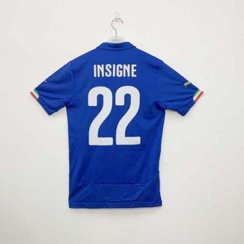PUMA ITALIA 2014 (Home) Shirt Replica 744288-01 w/ NAMESET (#22 INSIGNE)