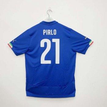 PUMA ITALIA 2014 (HOME) Shirt Replica 744288-01 w/ NAMESET (#21 PIRLO)