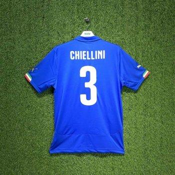 PUMA ITALIA 2014 (HOME) Shirt Replica 744288-01 w/ NAMESET (#3 CHIELLINI)