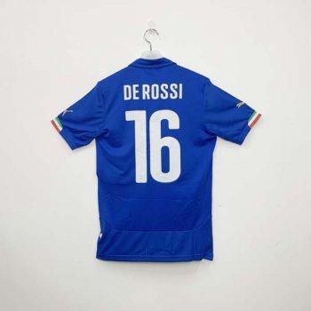 PUMA ITALIA 2014 (HOME) Shirt Replica 744288-01 w/ NAMESET (#16 DE ROSSI)