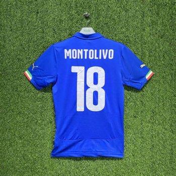 PUMA ITALIA 2014 (HOME) Shirt Replica 744288-01 w/ NAMESET (#18 MONTOLIVO)