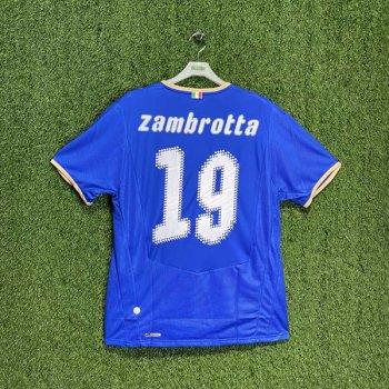 ITALIA 2008 (HOME) S/S JSY 733916-01 w/ NAMESET (#19 ZAMBROTTA)