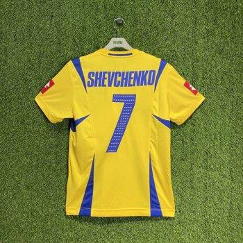 UKRAINE 2006 (HOME) S/S JSY w/ NAMESET (#7 SHEVCHENKO)