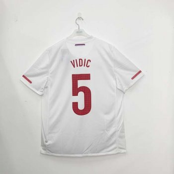 NIKE SERBIA 2010 (HOME) S/S JSY w/ NAMESET (#5 VIDIC)