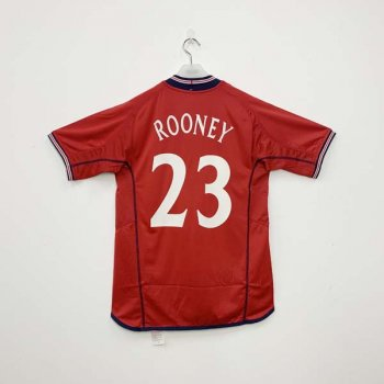 UMBRO ENGLAND 2002 (A) SS Jersey with nameset (#23 ROONEY)