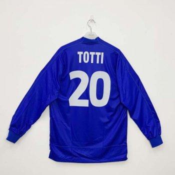 ITALIA 1999 (HOME) L/S JSY  w/ NAMESET (#20 TOTTI)