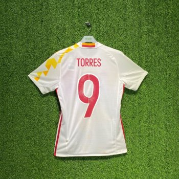 ADIDAS SPAIN 2016 (AWAY) S/S JSY AA0830 w/ NAMESET (#9 TORRES)