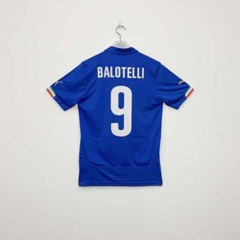 PUMA ITALIA 2014 (HOME) Shirt Replica 744288-01 w/ NAMESET (#9 BALOTELLI)