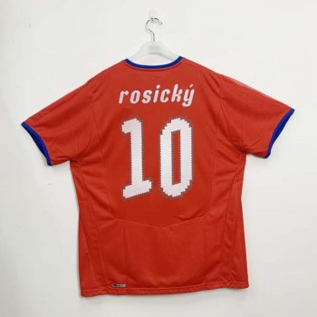 CZECH REPUBLIC 2008 (HOME) S/S JSY w/ NAMESET (#10 ROSICKY)