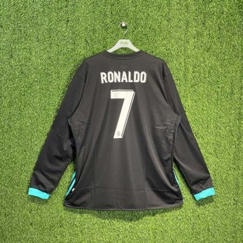 ADIDAS REAL MADRID 17/18 (AWAY) L/S JSY  B31088 w/ NAMESET (#7 RONALDO)