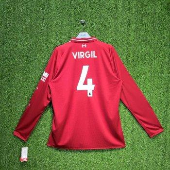 New Balance Liverpool 18/19 (H)  w/ NAMESET (#4 VIRGIL)