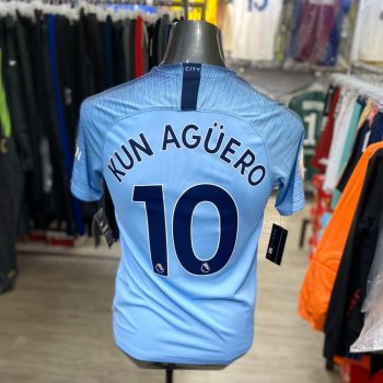Nike Manchester City 18/19 (H)  with EPL Nameset(#10 KUN AGUERO)+badge