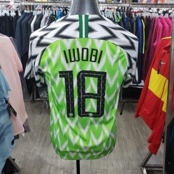 Nike National Team 2018 Nigeria (H) with nameset(#18 IWOBI)