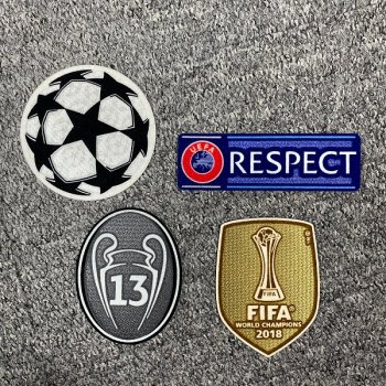 UEFA Champions League 2018 Champion Badge Set for Real Madrid