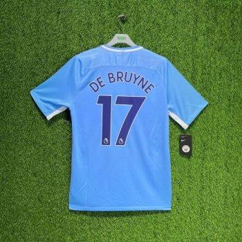 Nike Manchester City 17/18 (HOME) JSY w/ Nameset (#17 DE BRUYNE)