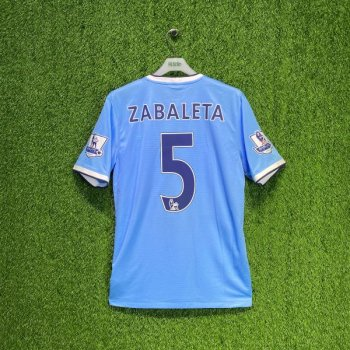 Nike Manchester City 13/14 (HOME) w/ nameset (#5 ZABALETA) + EPL BADGE