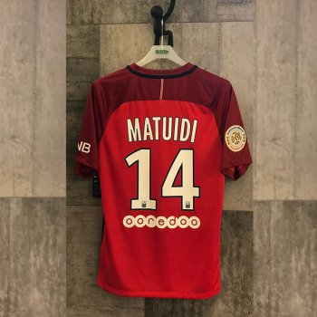 NIKE PSG 16 (A) SS JSY RED with Nameset (#14 MATUIDI)