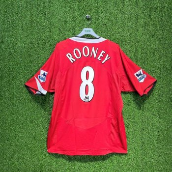 NIKE MANCHESTER UNITED 04/05 (HOME) w/ nameset (#8 ROONEY) + EPL BADGE