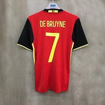 ADIDAS BEL 2016 (H) SS JSY with Nameset(#7 DE BRUYNE)