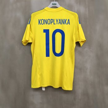 ADIDAS UKRAINE 16 (H)  with Nameset(#10 KONOPLYANKA)