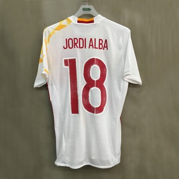 ADIDAS SPA 2016 (A) S/S JSY with Nameset(#18 JORDI ALBA)