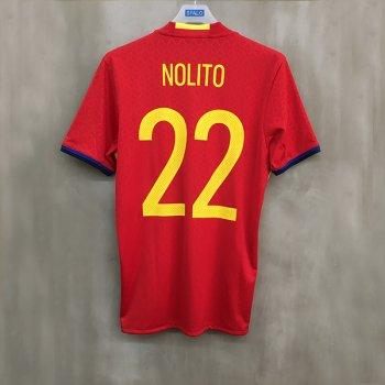 ADIDAS SPA 2016 (H) S/S JSY with Nameset(#22 NOLITO)