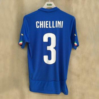PUMA ITALIA 14 (H) Shirt Replica with nameset (#3 CHIELLINI)