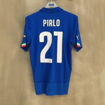 PUMA ITALIA 14 (H) Shirt Replica with nameset (#21 PIRLO)