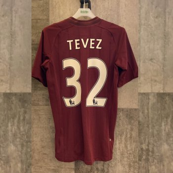 MAN CITY 12 (A) S/S with nameset(#32 TEVEZ)