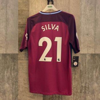 NIKE MCFC 17 AW STAD JSY SS with nameset(#21 SILVA)
