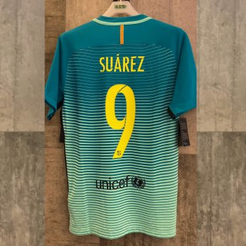NIKE FCB 16 3RD MATCH SS JSY with nameset(#9 SUAREZ)