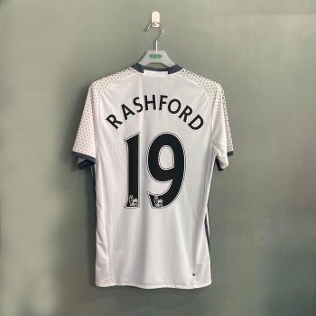 ADIDAS MUFC 16 3RD SS JSY WHT with nameset(#19 RASHFORD)