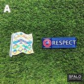 UEFA NATIONS LEAGUE BADGE + RESPECT BADGE