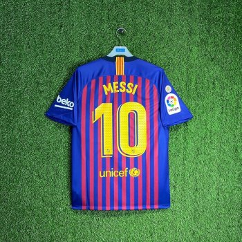 Nike FC Barcelona 18/19 (H) S/S Men's Jersey 894430-456 with #10 Nameset