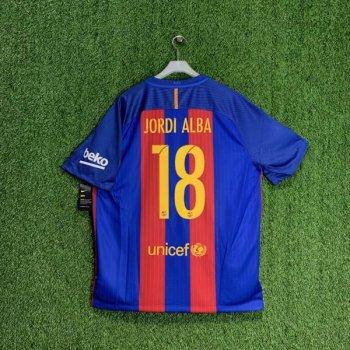 NIKE FC Barcelona 16/17 (H) JSY With Namset (#18 JORDI ALBA)