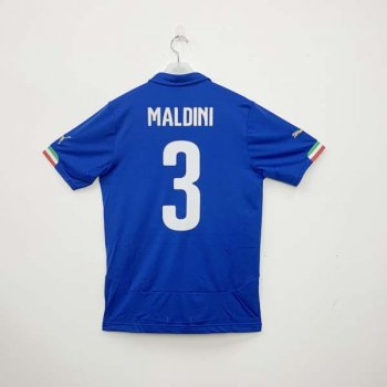 PUMA ITALIA 14 (H) Shirt Replica 744288-01 w/ NAMESET (#3 MALDINI)