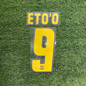 FC Barcelona 2004 (H) Nameset #9 ETO'O *只供收藏*