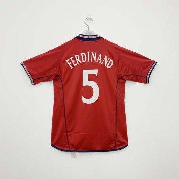 UMBRO ENGLAND 2002 (A) SS Jersey with nameset (#5 FERDINAND)