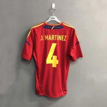 ADIDAS SPAIN 2012 (H) S/S JSY X10937 w/ NAMESET (#4 J.MARTINEZ)