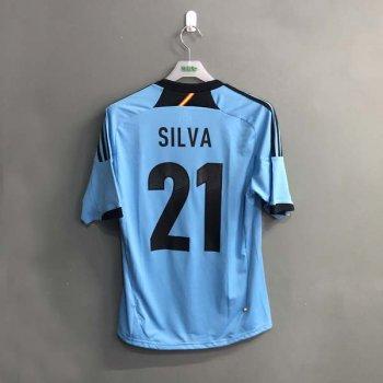 ADIDAS SPAIN 2012 (A) S/S JSY X11346 w/ NAMESET (#21 SILVA)