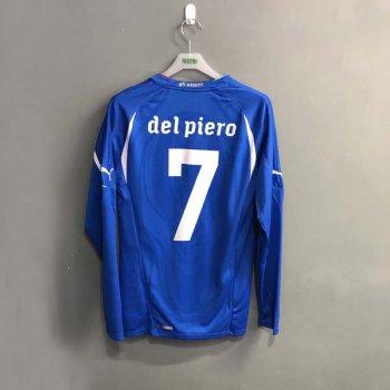 PUMA ITALIA 2010 (H) L/S Shirt Replica 736647-01 w/ NAMESET (#7 DEL PIERO)