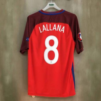 NIKE ENG 16 (A) SS STADIUM JSY 724608-600 w/ NAMESET (#8 LALLANA) + BADGE